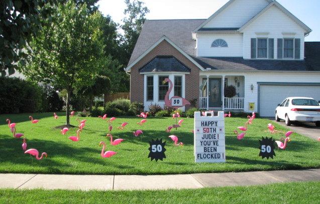 flamingo theme sign flamingo full display