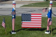 Patriotic - Uncle Sam and Flags