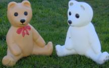3D Teddy Bears - Tan and White