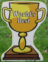 2D 'World's Best' Trophies